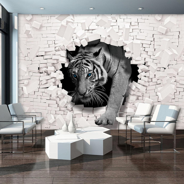FORWALL Fototapete Vlies Vlies Vlies - Tapete Moderne Wanddeko 3D Tiger kommt aus der Wand VEXXXL (416cm. x 254cm.) AMF10400VEXXXL Wandtapete Design Tapete B077QGK6SZ Wandtattoos & Wandbilder 521489