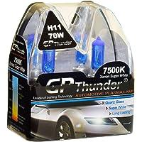 GP Thunder GP75-H11 Super White H11 12V 70W Halogen Xenon Bulb with Quartz Glass (High Wattage 7500K 2 Bulbs)