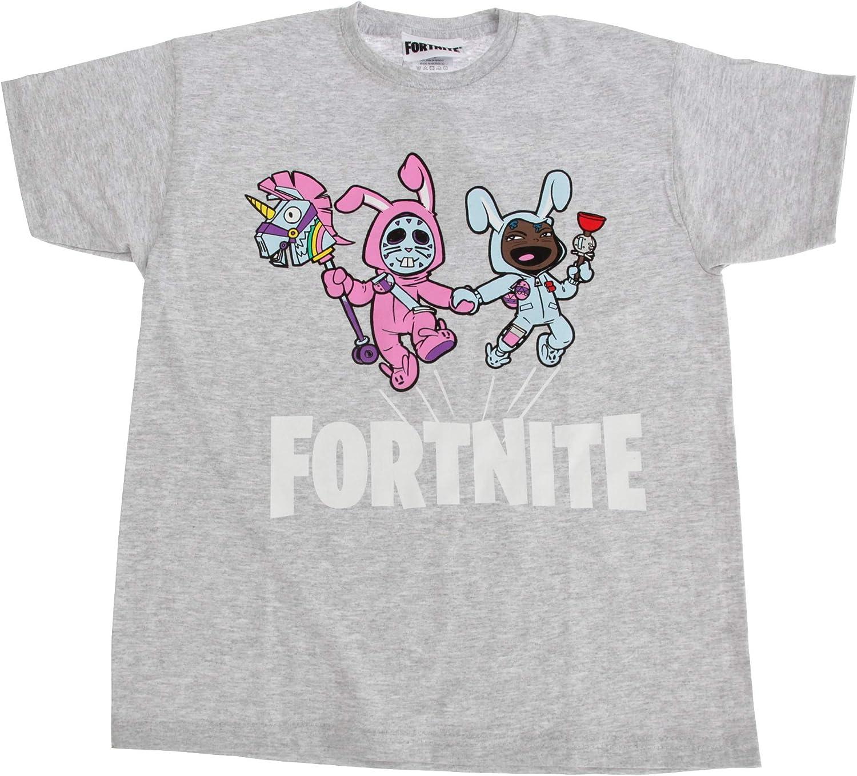 Fortnite - Camiseta Infantil de Manga Corta (11/12 Años) (Azul ...