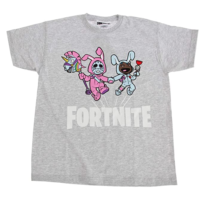 fd4a0fd0 Fortnite Childrens/Kids Bunny Trouble Short Sleeve T-Shirt: Amazon ...