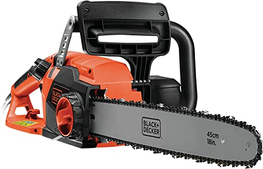 BLACK+DECKER CS2245-QS - Motosierra eléctrica 2200W,