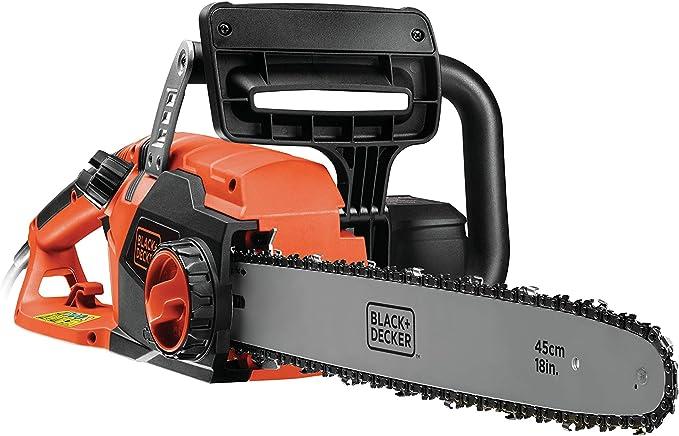 BLACK+DECKER CS2245-QS - Motosierra eléctrica 2200W, espada 45 cm, velocidad 12.5 m/s: Amazon.es: Bricolaje y herramientas