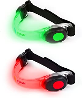 Iotrevor Fitness réfléchissant Brassard (lot de 2) rouge/vert