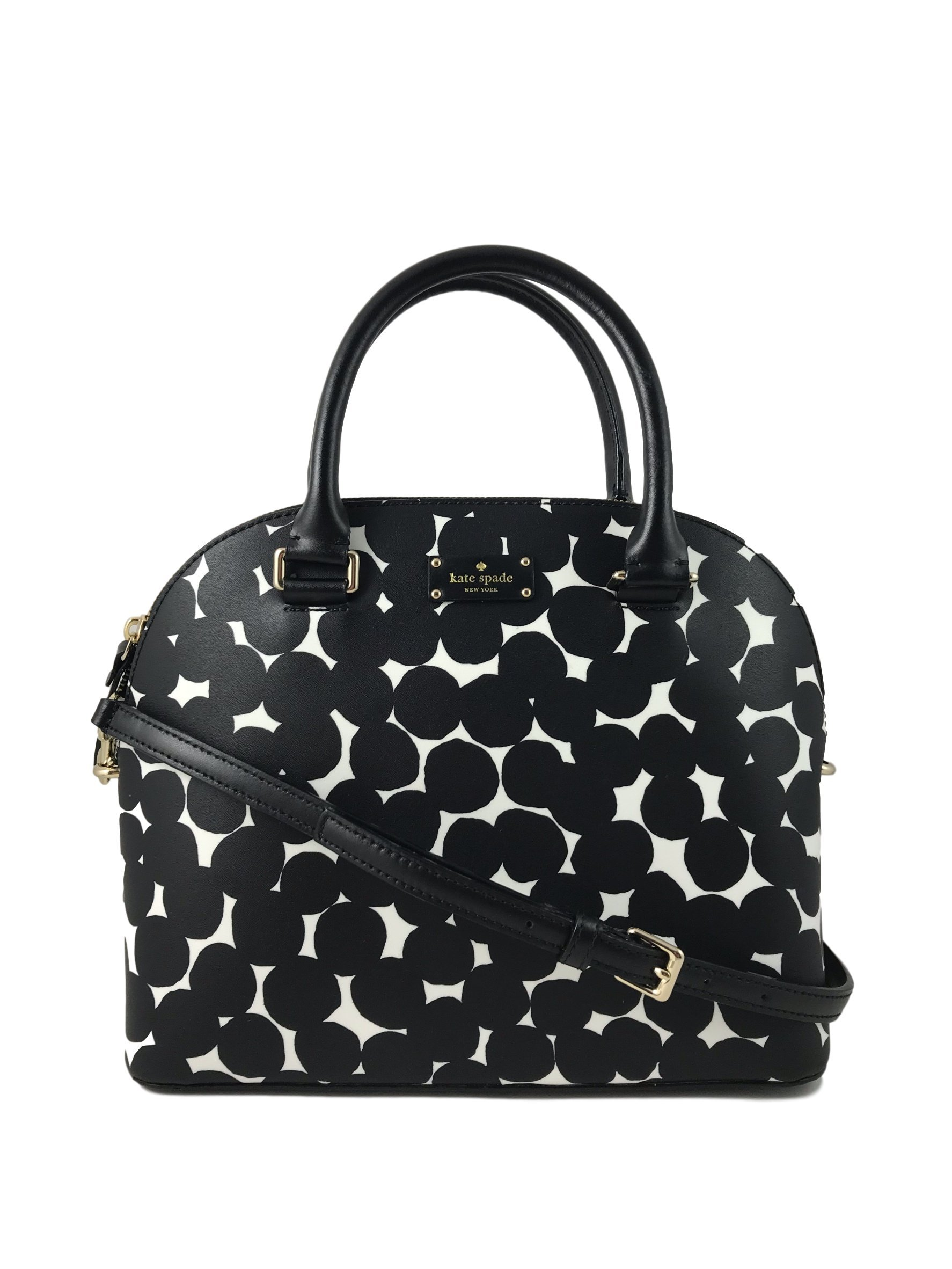 Kate Spade New York Carli Grove Street Splodge Dot Leather Handbag in Black/Cream by Kate Spade New York