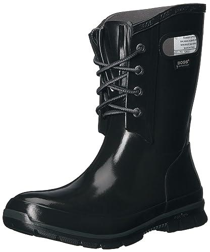 5efee0e0925 Amazon.com | Bogs Women's Amanda 4-Eye Rain Boot, Black, 6 M US ...