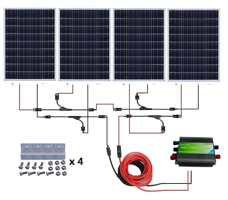 Sistema de panel solar de parrilla de 400 W de la marca ...