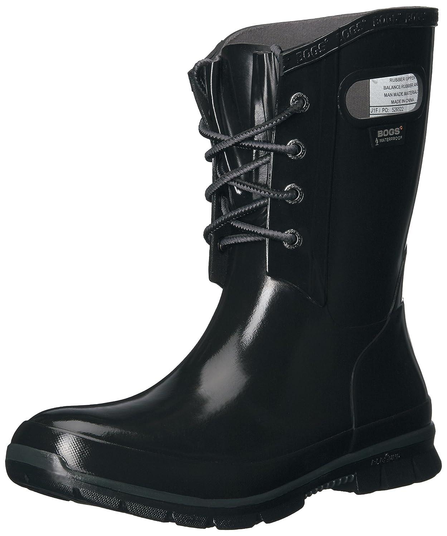Bogs Women's Amanda 4-Eye Solid Rain Boot B01J6U16YI 8 B(M) US|Black