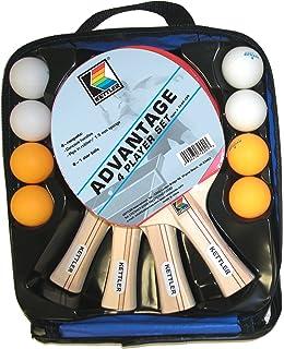 Kettler Advantage Indoor Table Tennis Bundle: 4 Player Set (4  Rackets/Paddles And