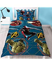 Official Avengers Endgame Single Duvet Cover Reversible Bedding Iron Man Spiderman Hulk Captain America