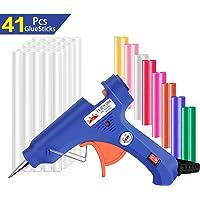 Heißklebepistole Klebepistole mit 41 Heißklebesticks 7mm, Lnkey 20-Watt Schmelzende Klebepistole Set,Hohe Temperatur Pistole für Schule DIY Kunst und Handwerksprojekte,Hausreparaturen (Blau)