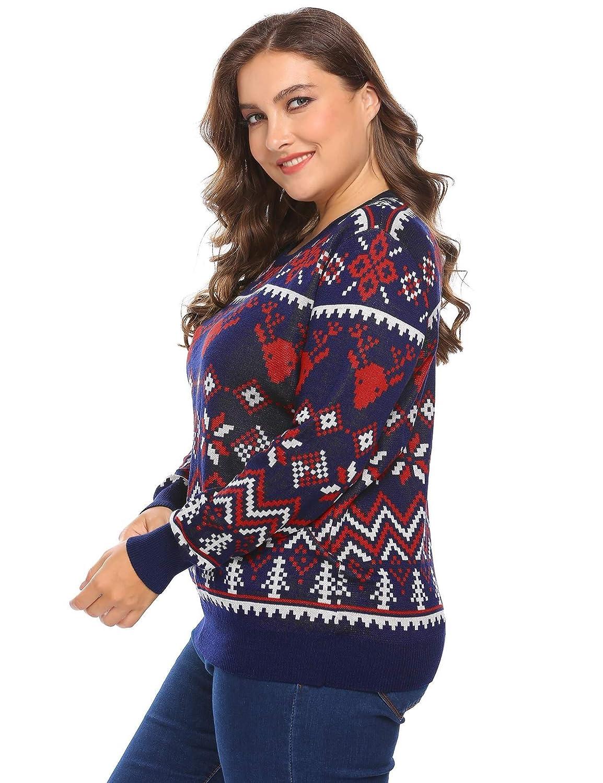 Dethler Womens Christmas Coat Warm Plus Size Navy Blue Red Green Gray