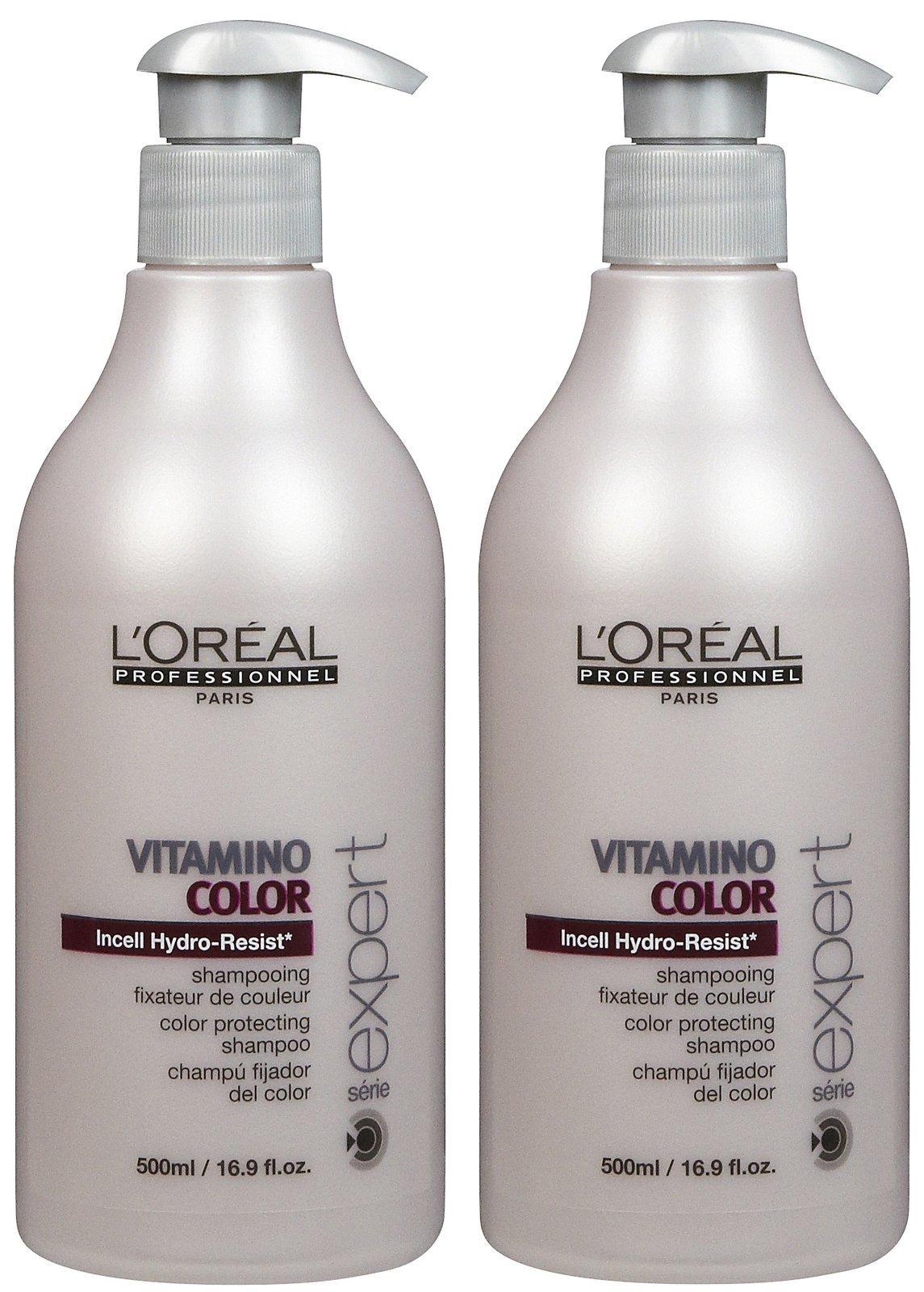 L'Oreal Professional Serie Expert Vitamino Color Shampoo - 16.9 oz - 2 pk