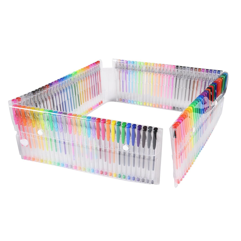 Conda Stylo /à encre gel Set-120/Unique coloriage Art non toxique Ensemble No-duplicate Craft stylos /à paillettes m/étallique Neon Pastel et nuances Adulte classique enfants Cadeau