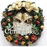 クリスマス リース ゴージャス 選べる 3種類 ゴールド レッド パウダースノー (3 ゴールド)