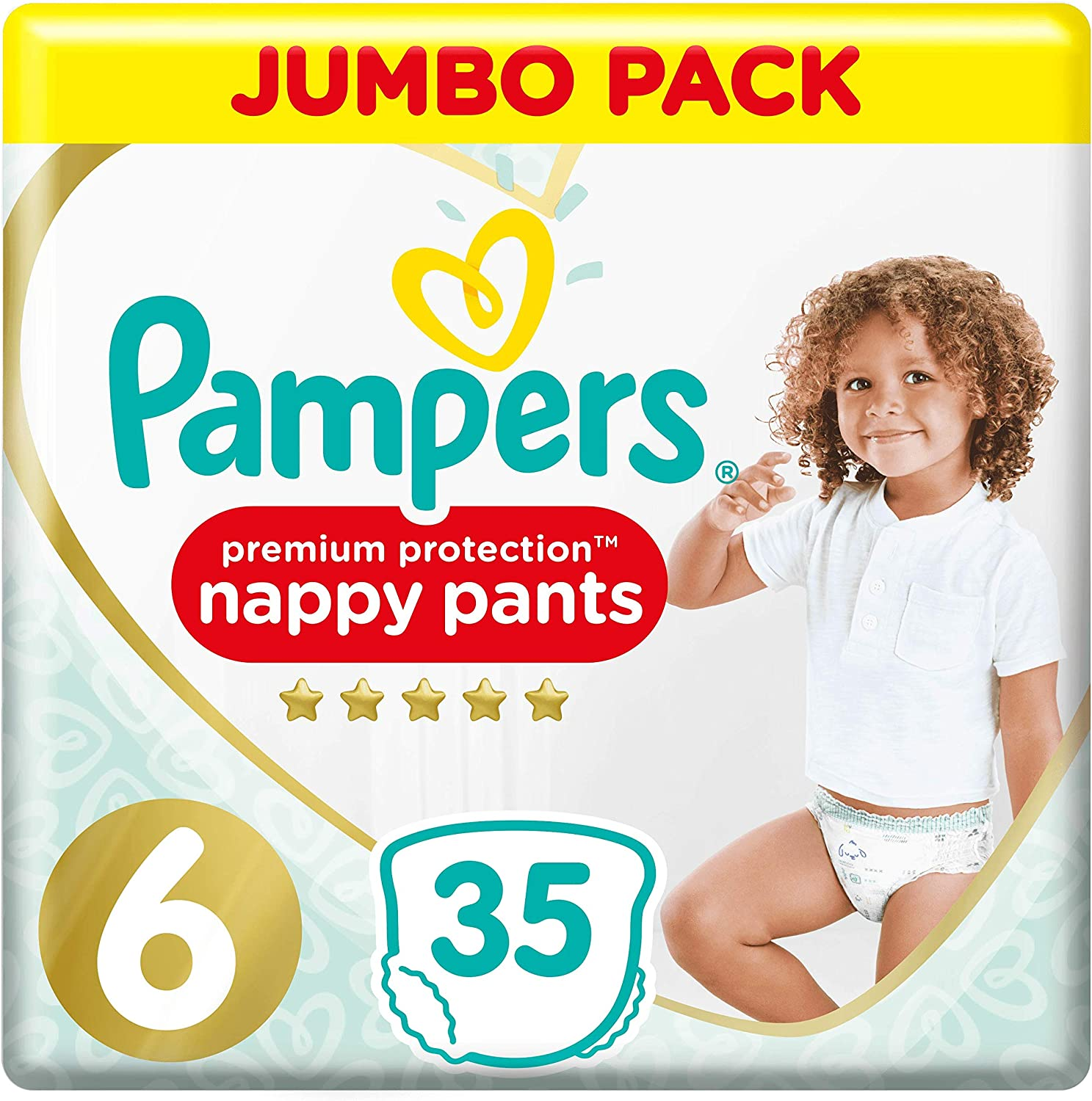 9-15kg Jumbo Pack 47 Nappy Pants Pampers Premium Protection Nappy Pants Size 4