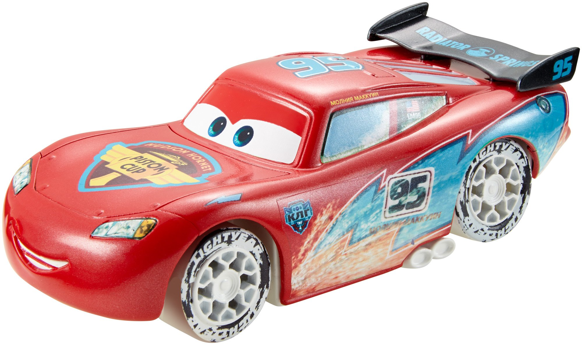 Disney/Pixar Cars Ice Drifters 1:43 Scale Pullback Drifter Vehicle, Lightning McQueen