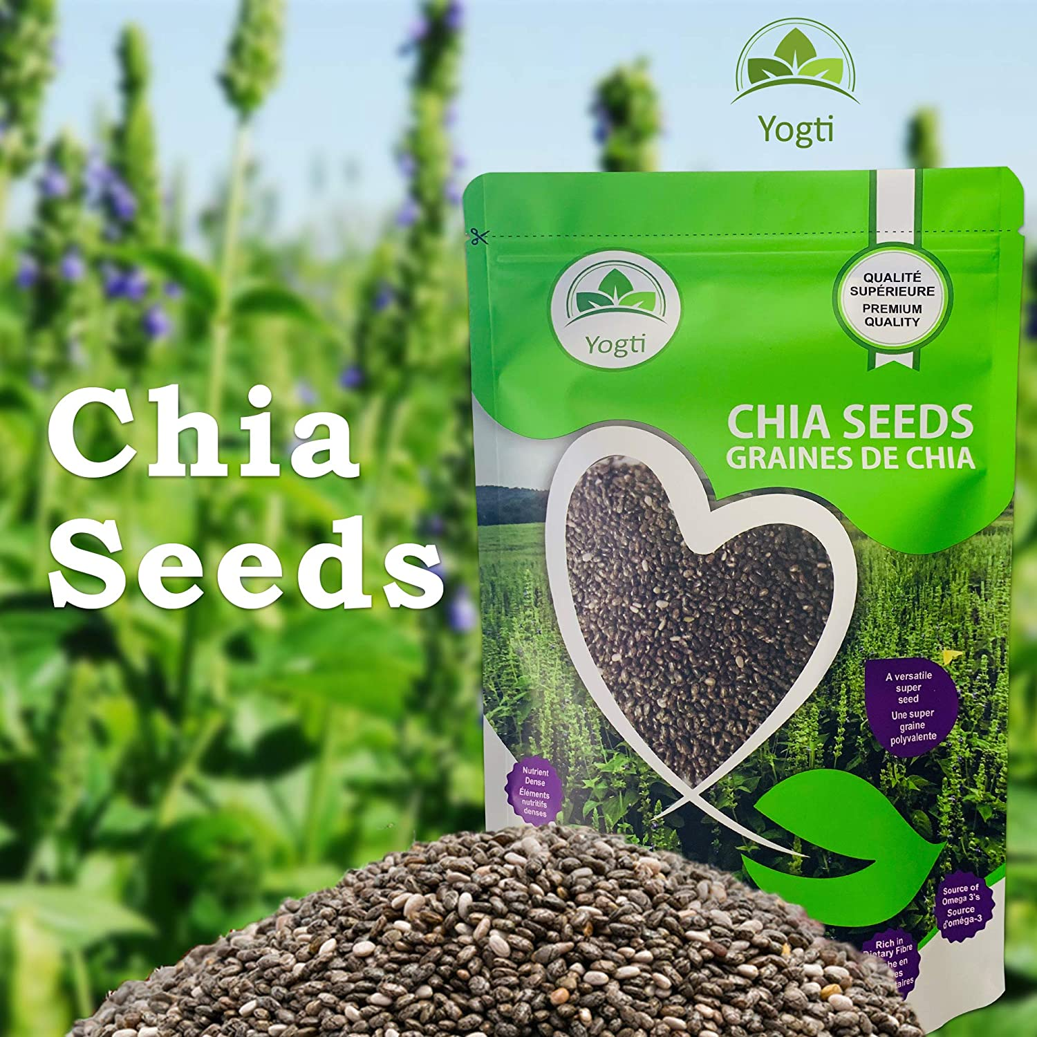 Semillas de Yogti Chia, marca canadiense: Amazon.com ...