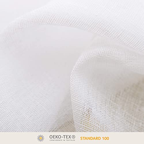 BONZER Burlap Linen Sheer Curtain