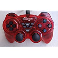 NSinc Dual Vibration USB Wired Controller Gamepad/Joystick with LED Indicators for PC Laptop & with CD Driver, Pack of 2