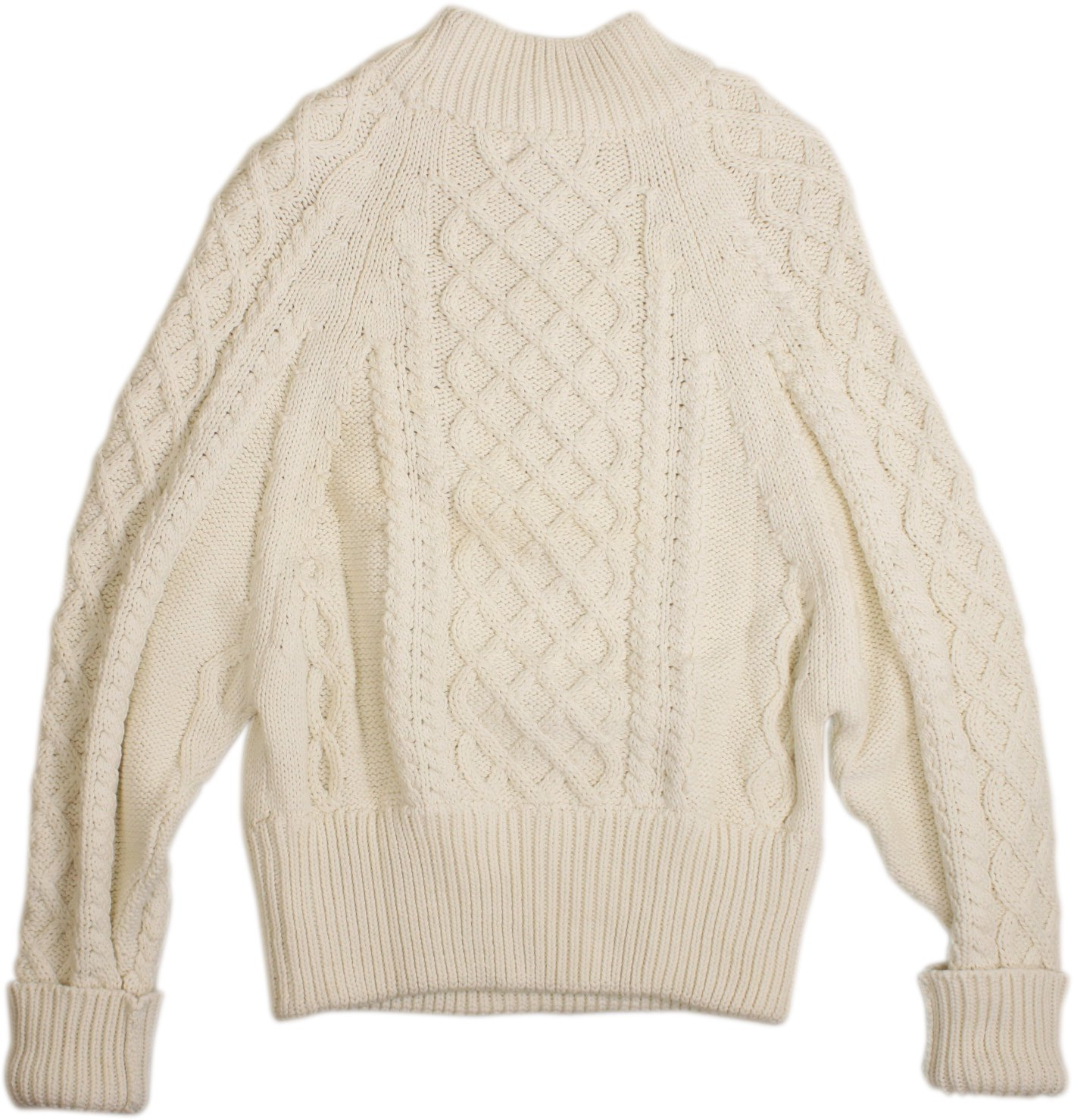 Faithfull Brand Lauren Knit Sweater Off White Womens S