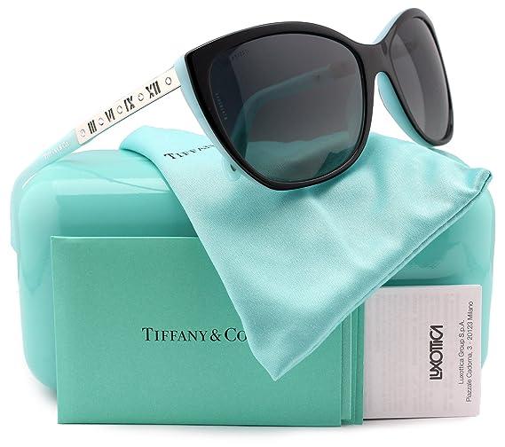 be1f1f25141 Tiffany   Co. TF4094B Polarized Sunglasses Black Blue w Gray Gradient (8055  T3) TF 4094B 8055T3 59mm Authentic  Amazon.co.uk  Clothing