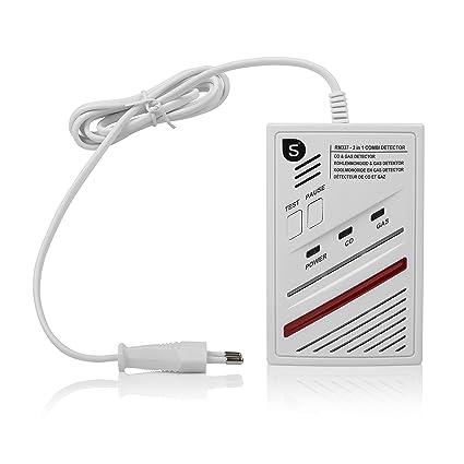 Smartwares 10.029.29 Detector Combinado de Gas CO (Sensor de 5 años, 220