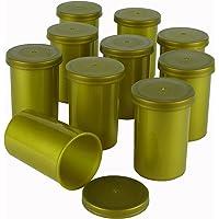 Goldene Filmdosen - stabiler Kunststoff - für Geocaching oder Kleinteile (10 Stück)