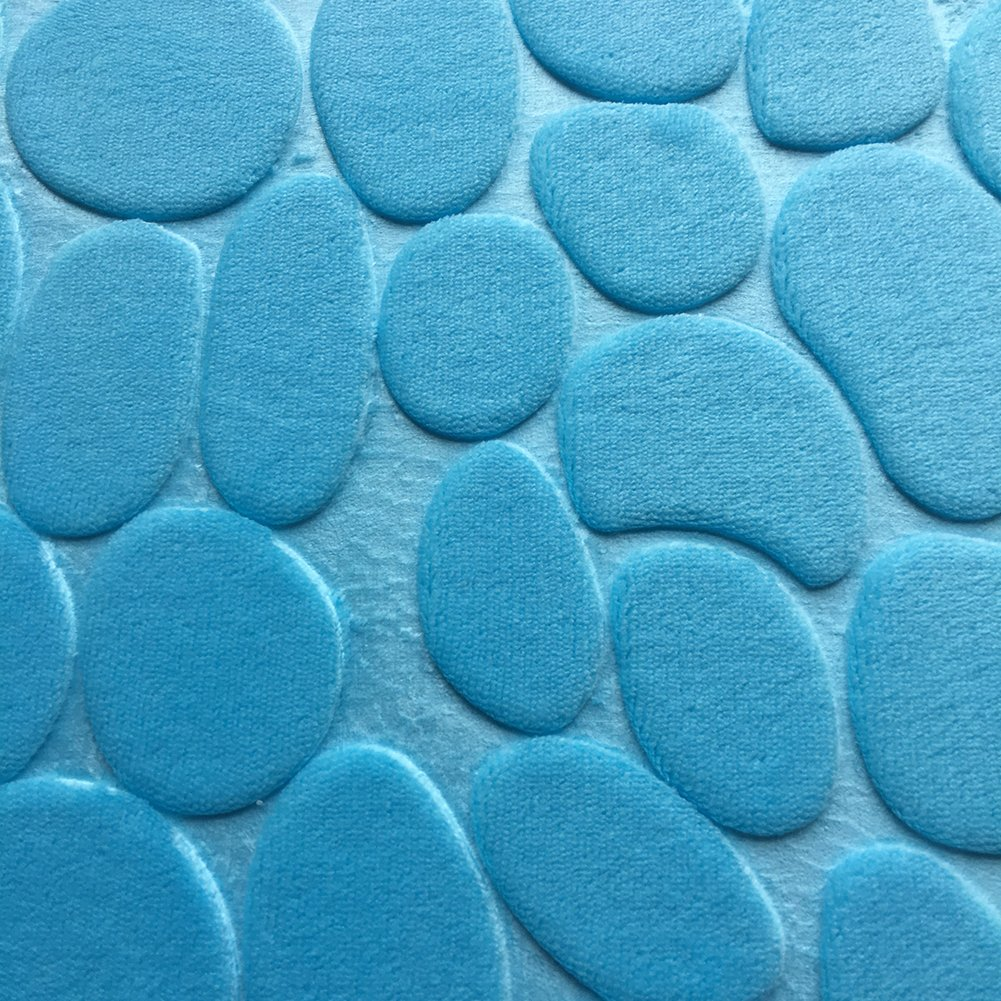 Bianco Aikesi Set 3 Pezzi Tappetini da Bagno Tappeti e tappetini di Assorbenti Antiscivolo Lavabile in Lavatrice
