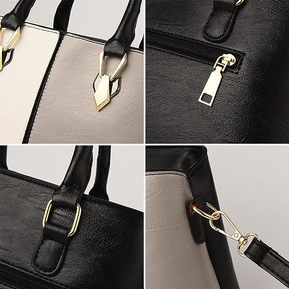 Amazon.com: yjydada, bolsa de moda mujeres bolsos de piel ...
