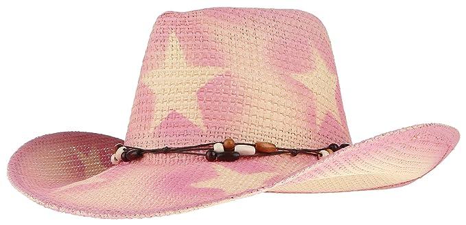 BELLA-Cappello di Paglia Cowboy Stampa Stella Uomo Donna Spiaggia Berretto  Sole Estate Rosa Misura 58cm  Amazon.it  Abbigliamento 293d12ce2961