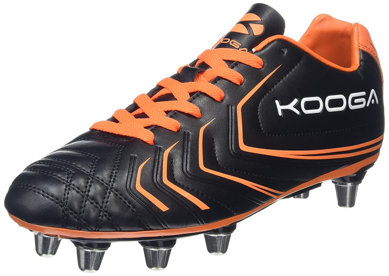 Kooga Warrior 2 SGブーツ大人ブラック/オレンジ B01HBO64UW black/fluo orange 9