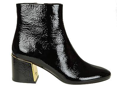 fd9451b442f43f Tory Burch Femme 49711006 Noir Cuir Bottines  Amazon.fr  Chaussures ...