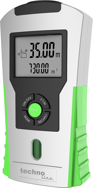 Technoline por ultrasonido–Telémetro WZ 1100, Plata–Verde