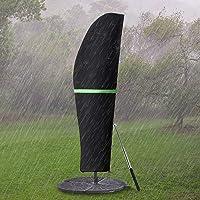 GEMITTO Parasol beschermhoes met staaf, parasol afdekking 2 tot 4 m grote parasol beschermhoes, weerbestendig, uv…