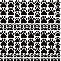 132 Pcs Paw Print Stickers Vinyl Dog Pawprints Wall Decals for Kids DIY Decor Home Room Floor Wall Stairs to Guide…
