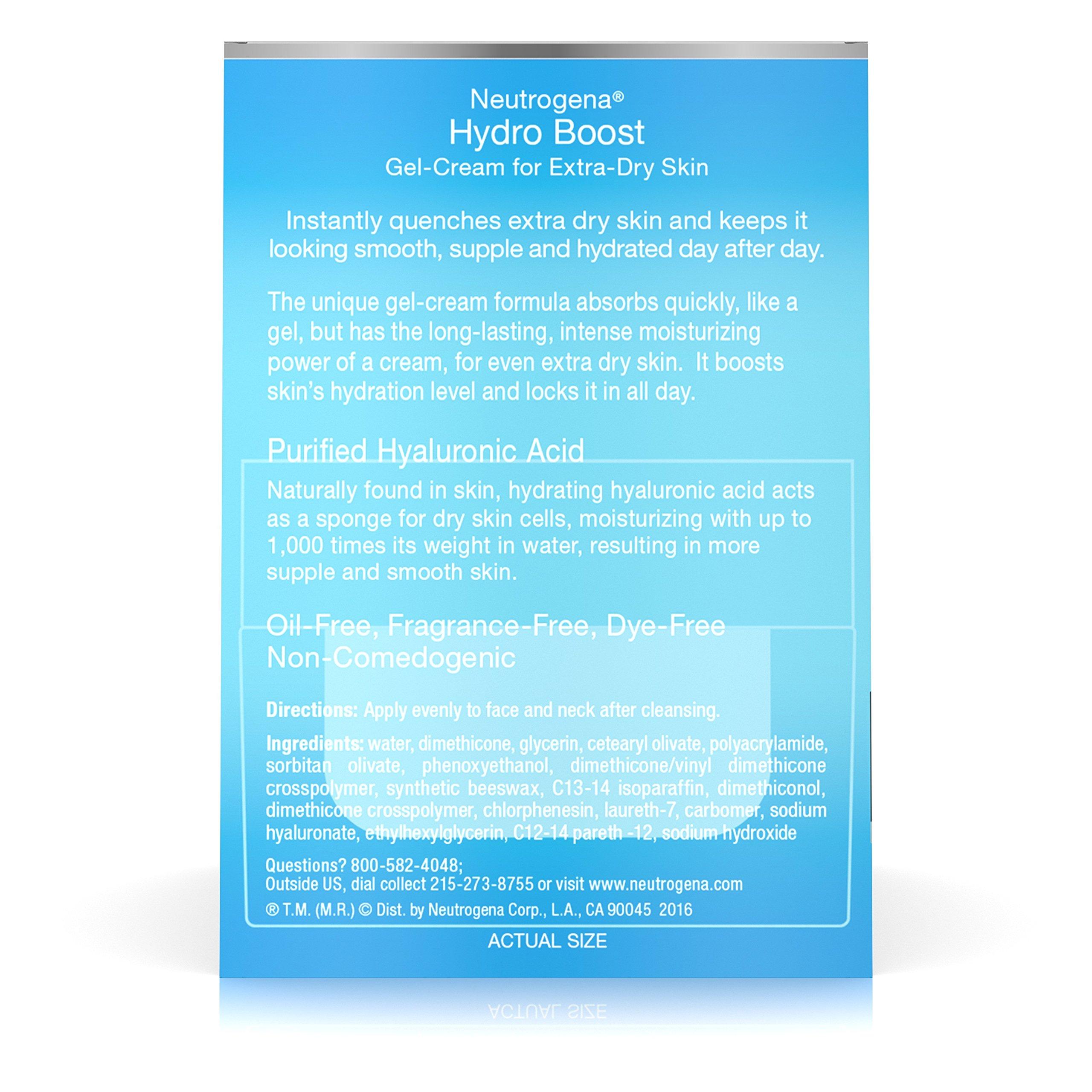 Neutrogena Hydro Boost Hyaluronic Acid Hydrating Face Moisturizer Gel-Cream to Hydrate and Smooth Extra-Dry Skin, 1.7 oz by Neutrogena (Image #9)