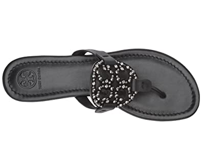 49ee71339e1f6 Tory Burch Miller Royal Navy Embellished Sandal Blue Size  4.5 UK ...