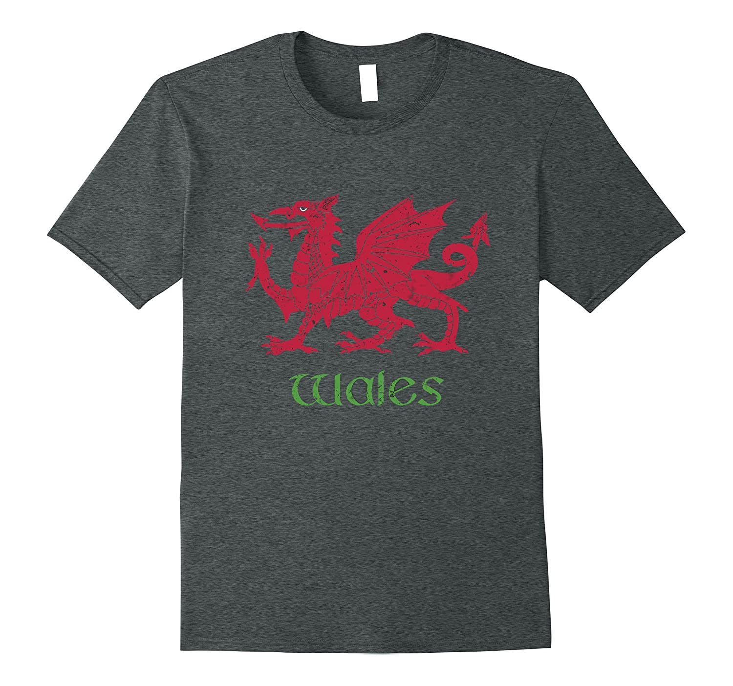 Wales Dragon T-Shirt Vintage Welsh Flag Tee