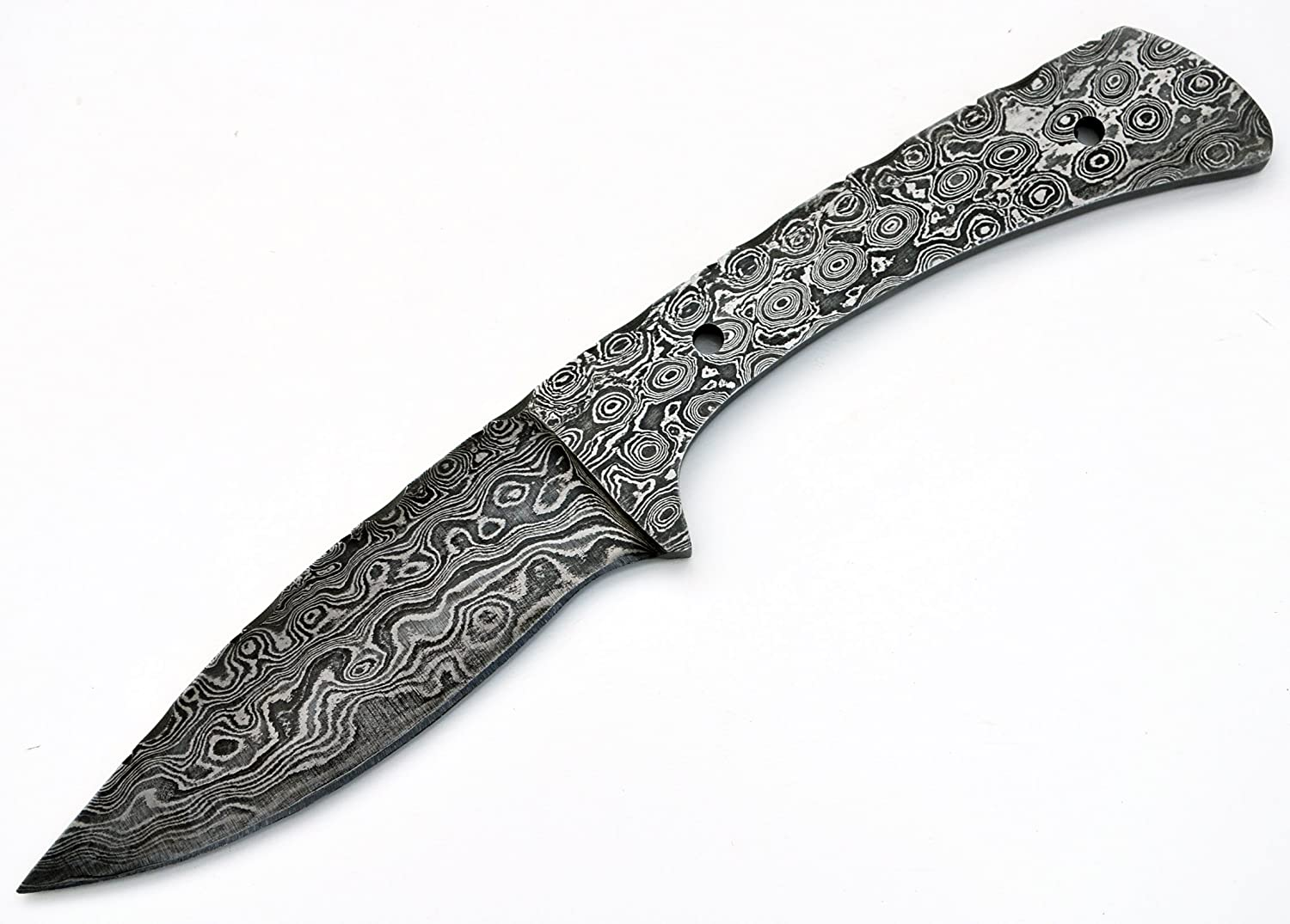 Whole Earth Supply Knife Making Damascus Drop Point Hunting Blank Knives Steel 1095 HC Custom Blade