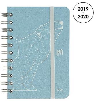 Oxford So Chic agenda escolar (años 2017 – 2018 1 día por página 352 páginas 12 x 18 cm azul rosetón