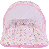 Baby Mosquito Mattress Cotton with Pillow(0-6 Months) Pink
