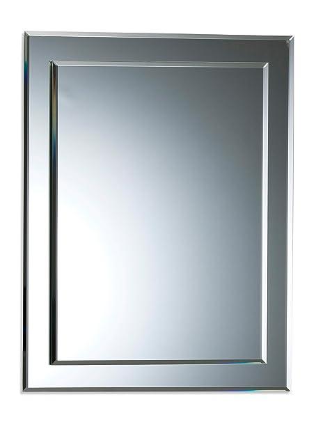Neue Design Bathroom Mirror Double Layer Rectangular Wall Plain