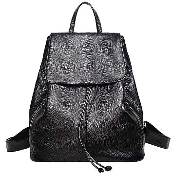 25ef5c460064c AMLU Echtes Leder Rucksack für Frauen Elegante Damen Reise Schule  Umhängetasche