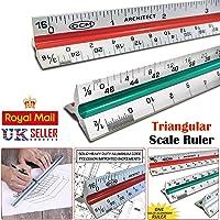Regla de escala triangular de 30 cm, 6 balanzas para artista profesional de ingenieros y