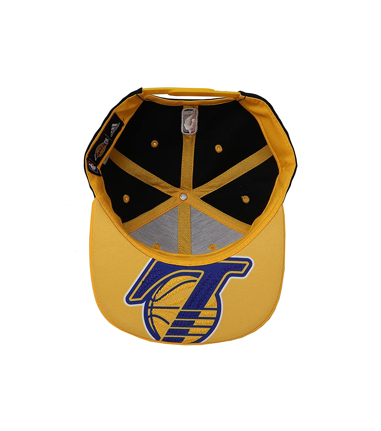 Amazon.com   adidas Hat Los Angeles Lakers On Court Snapback Black Gold  Official Team Headwear   Sports   Outdoors 749f323a041f