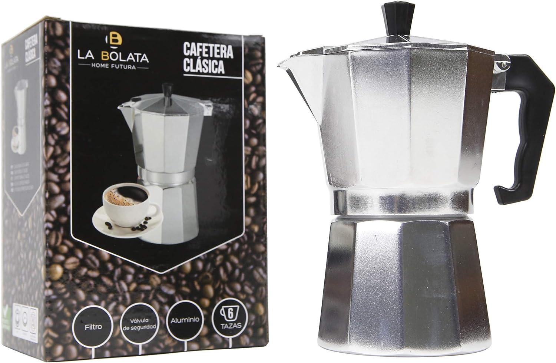 Crack hogar - Cafetera clasica aluminio 6 tazas**: Amazon.es: Hogar