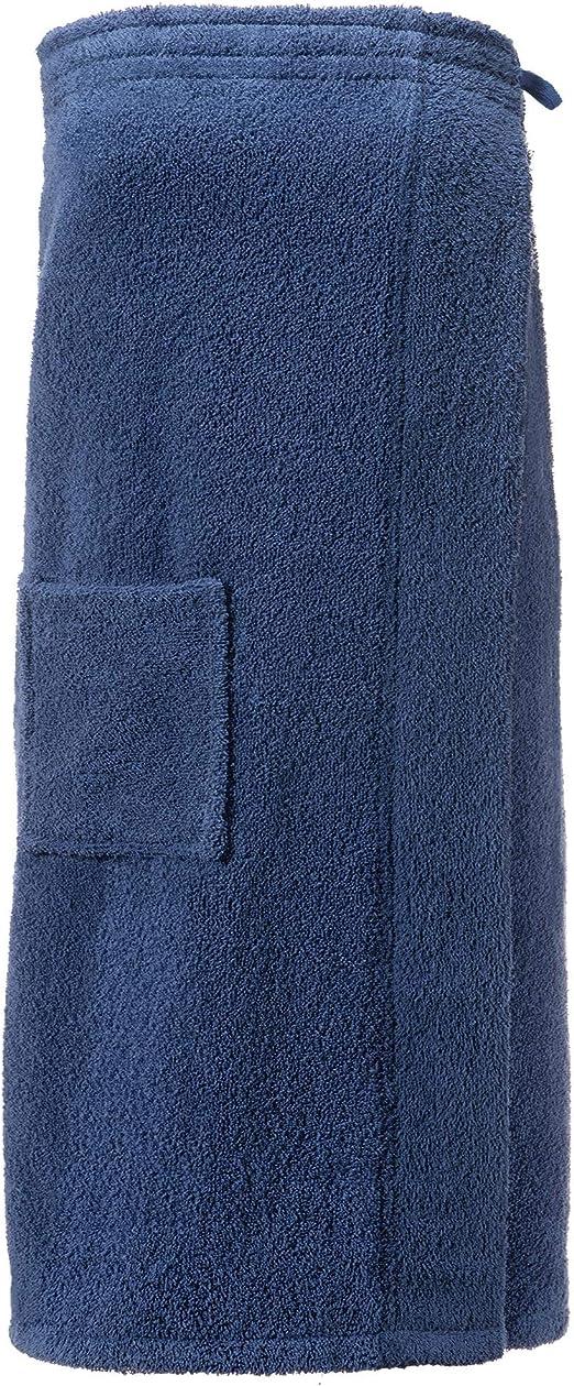 CelinaTex Funlike Toalla de Sauna Tipo Falda Largo S/M Azul Oscuro ...