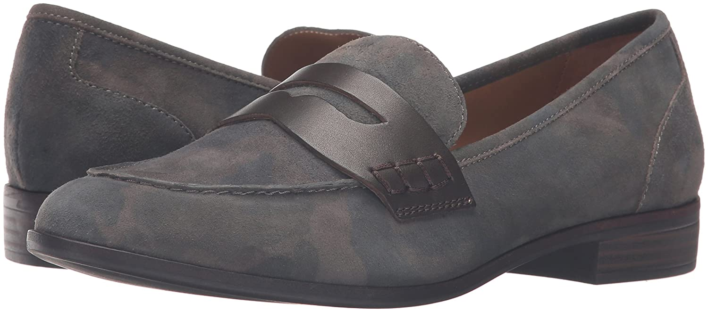 G.H. Bass & Co... Women's Emilia Pointed Toe Flat B01D0RMQR4 7 B(M) US|Camo/Espresso
