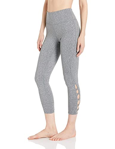 "Core 10 Women's (Xs 3 X) High Waist Yoga Lattice 7/8 Crop Legging   24"" by Core 10"