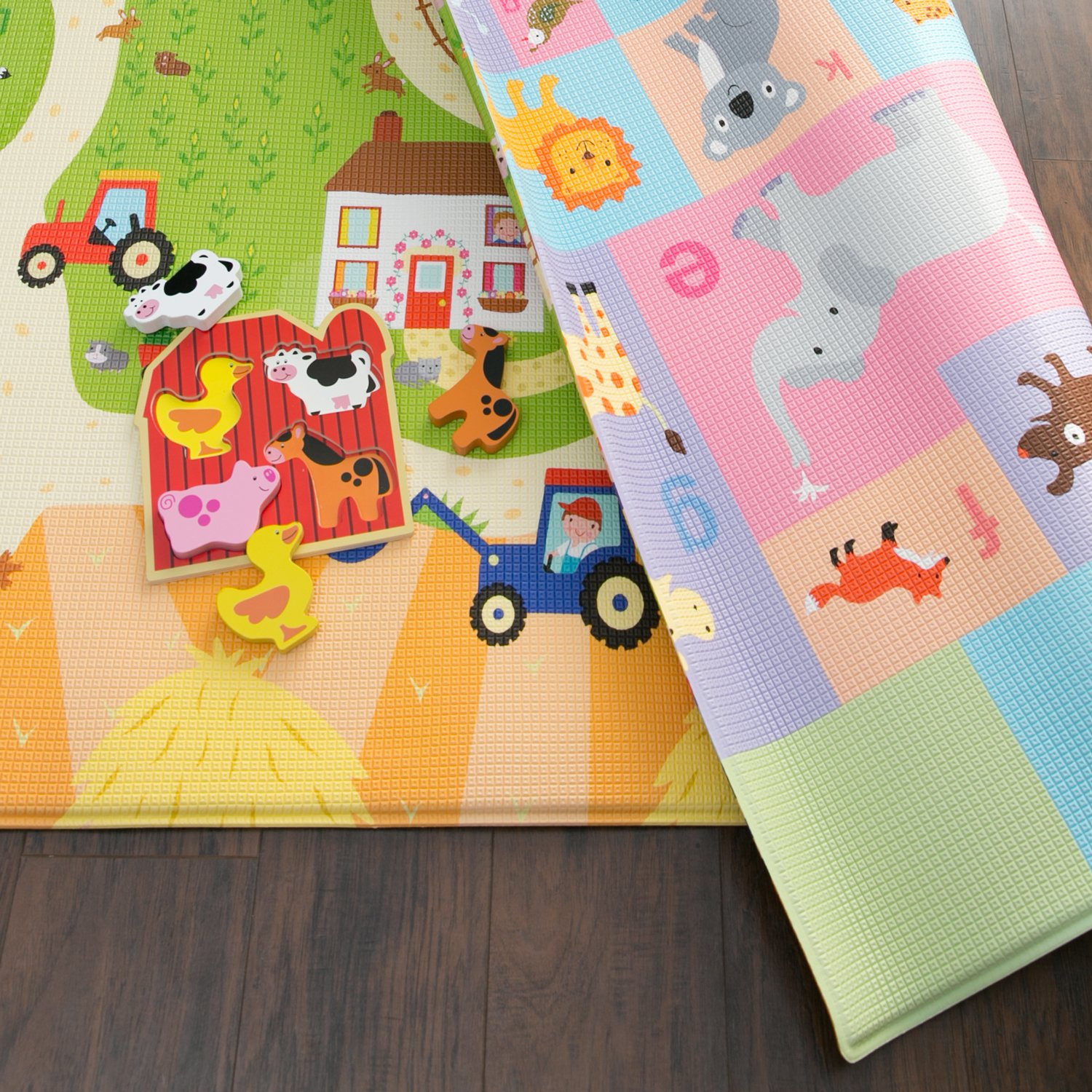 Baby Care Play Mat Large, Busy Farm